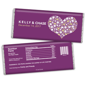 Personalized Chocolate Bar Heart of Life Wedding Favors
