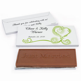 Deluxe Personalized Wedding Regal Elegance Chocolate Bar in Gift Box