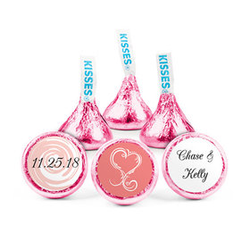 Personalized Wedding Swirled Heart Hershey's Kisses (50 pack)