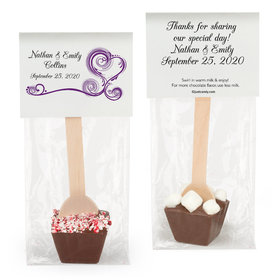 Personalized Wedding Swirled Hearts Hot Chocolate Spoon