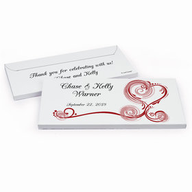 Deluxe Personalized Wedding Regal Elegance Hershey's Chocolate Bar in Gift Box