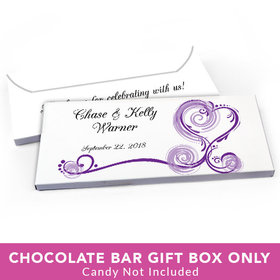 Deluxe Personalized Wedding Regal Elegance Candy Bar Favor Box