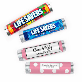 Personalized Wedding Polka Dots Lifesavers Rolls (20 Rolls)