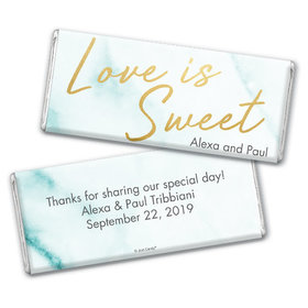 Personalized Wedding Love is Sweet Marble Chocolate Bar & Wrapper