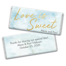 Personalized Wedding Love is Sweet Marble Chocolate Bar Wrappers
