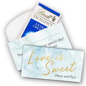Deluxe Personalized Wedding Love Is Sweet Lindt Chocolate Bar in Gift Box (3.5oz)