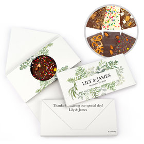 Personalized Wedding Botanical Love Gourmet Infused Belgian Chocolate Bars (3.5oz)