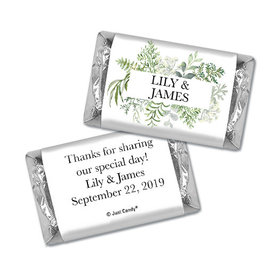 Personalized Wedding Hershey's Miniatures Botanical Love