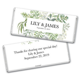 Personalized Wedding Botanical Love Chocolate Bar & Wrapper
