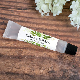 Hand Sanitizer Tube Personalized Wedding Botanical Greenery 0.5 fl. oz.