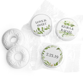 Personalized Wedding Botanical Greenery Life Savers Mints