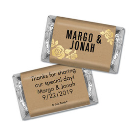 Personalized Wedding Hershey's Miniatures Golden Roses