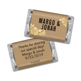 Personalized Wedding Hershey's Miniatures Wrappers Golden Roses
