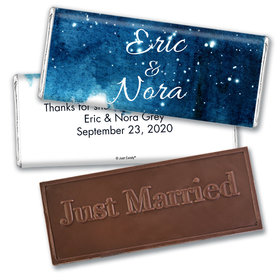 Wedding Favor Personalized Embossed Chocolate Bar Magical Evening
