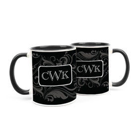 Personalized Wedding Filigree Pattern 15oz Mug