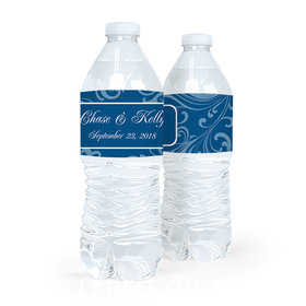 Personalized Wedding Filigree Water Bottle Sticker Labels (5 Labels)