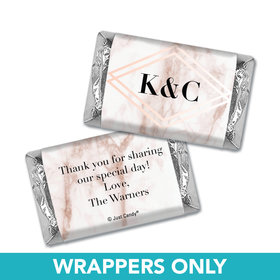 Personalized Wedding Hershey's Miniatures Wrappers Geometric Marble