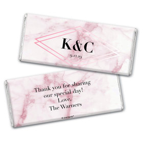 Personalized Wedding Geometric Marble Chocolate Bar Wrappers