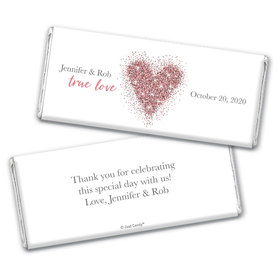 Personalized Wedding True Love Sparkles Chocolate Bar Wrappers Only