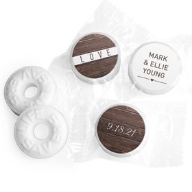 Personalized Wedding Rustic Love LifeSavers Mints