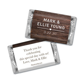 Personalized Wedding Rustic Love Hershey's Miniatures