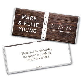 Personalized Wedding Rustic Love Chocolate Bar & Wrapper