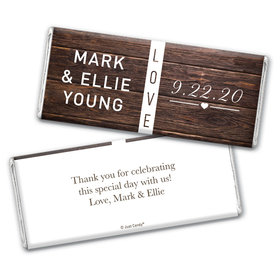 Personalized Wedding Rustic Love Chocolate Bar Wrappers Only