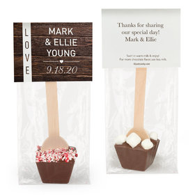 Personalized Wedding Rustic Love Hot Chocolate Spoon