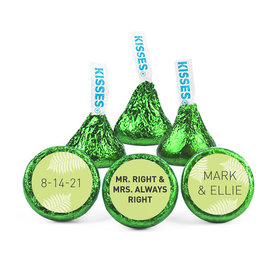 Personalized Wedding Mr. & Mrs. Right Hershey's Kisses (50 pack)