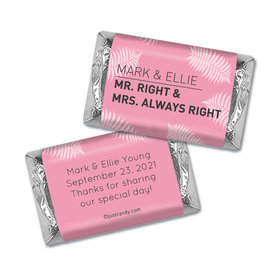 Personalized Wedding Favor Mr. And Mrs. Right Hershey's Hershey's Miniatures