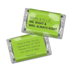 Personalized Wedding Favor Mr. And Mrs. Right Hershey's Miniatures Wrappers Only