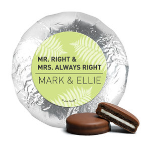 Personalized Wedding Mr. and Mrs. Right Chocolate Covered Oreos (24 Pack)