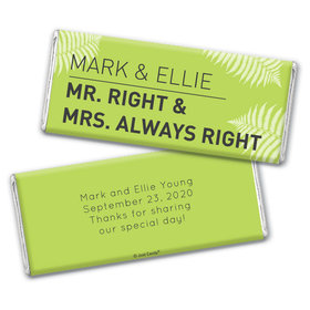 Personalized Wedding Favor Mr. And Mrs. Right Hershey's Chocolate Bar & Wrapper