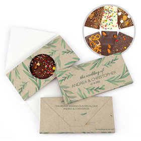Personalized Wedding One With Nature Gourmet Infused Belgian Chocolate Bars (3.5oz)