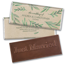 Wedding Favor Personalized Embossed Chocolate Bar One With Nature
