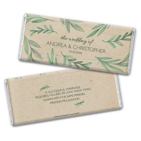 Personalized Wedding Favor One With Nature Hershey's Chocolate Bar & Wrapper