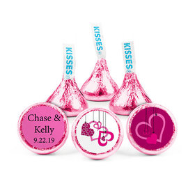 Personalized Wedding Hanging Hearts Hershey's Kisses (50 pack)