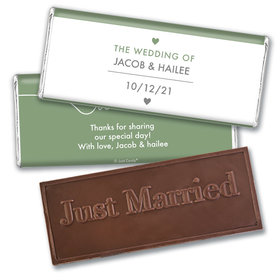 Personalized Wedding Everlasting Love Embossed Chocolate Bar & Wrapper