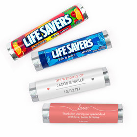 Personalized Wedding Everlasting Love Lifesavers Rolls (20 Rolls)