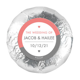 """Personalized Wedding Everlasting Love 1.25"""" Stickers (48 Stickers)"""