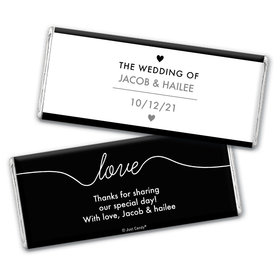 Personalized Wedding Everlasting Love Chocolate Bar & Wrapper