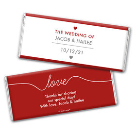 Personalized Wedding Everlasting Love Chocolate Bar Wrappers