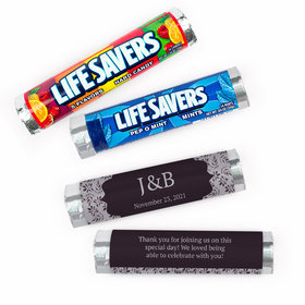 Personalized Wedding Everlasting Elegance Lifesavers Rolls (20 Rolls)