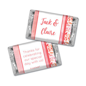 Personalized Wedding Lovely Leaves Hershey's Miniatures Wrappers Only