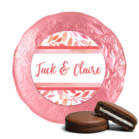 Personalized Wedding Lovely Leaves Chocolate Covered Oreos