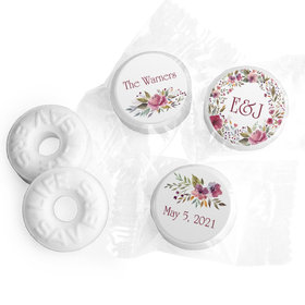 Personalized Wedding Flowering Affection LifeSavers Mints