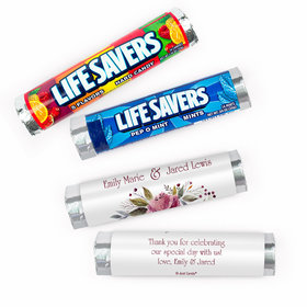 Personalized Wedding Flowering Affection Lifesavers Rolls (20 Rolls)
