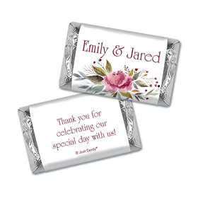 Personalized Wedding Flowering Affection Hershey's Miniatures Wrappers Only
