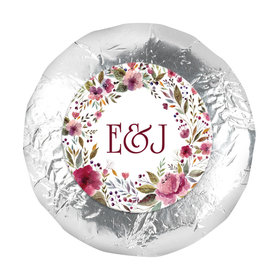 "Personalized Wedding Flowering Affection 1.25"" Stickers (48 Stickers)"
