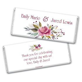 Personalized Wedding Flowering Affection Chocolate Bar & Wrapper